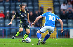 Stuart Sinclair of Bristol Rovers takes on Callum Camps of Rochdale - Mandatory by-line: Robbie Stephenson/JMP - 21/10/2017 - FOOTBALL - Crown Oil Arena - Rochdale, England - Rochdale v Bristol Rovers - Sky Bet League One