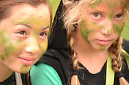 Emma Shapera and Louisa Soohoo at the Wayfinders Experience for teenagers at Omega Institute, Rhinebeck New York,<br /> August 2011