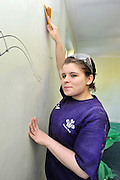 ©INS News Agency Ltd...  19/10/2010.Danielle Charles. Benedict Cumberbatch helps out with the Prince's Trust 'Make a Change Week' by helping decorate classrooms at Cricket Green School in Mitcham London.