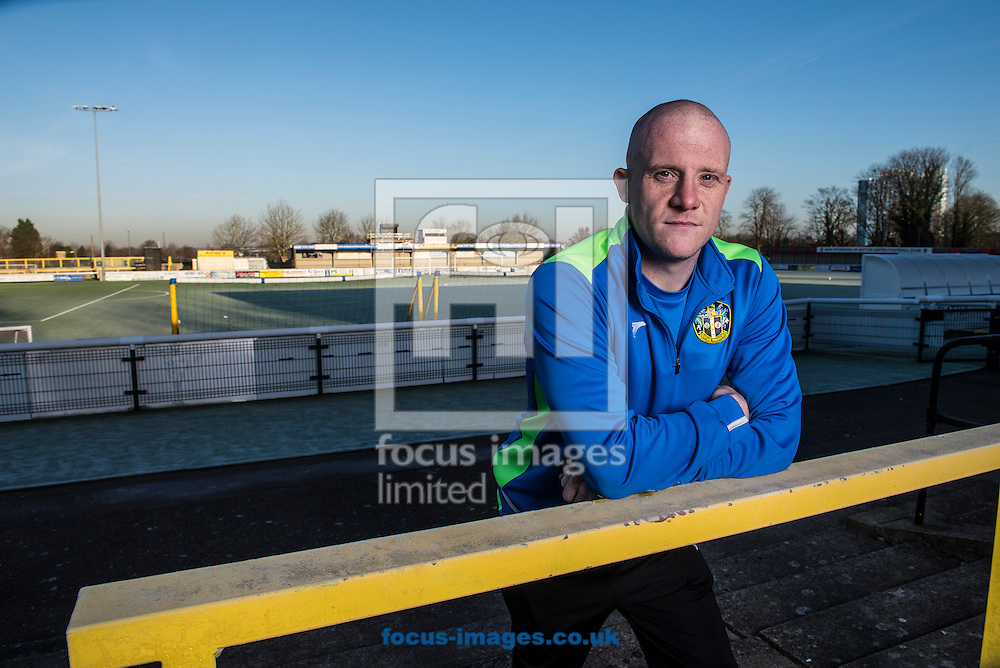 Midfielder Nicky Bailey of Sutton United pictured at their Borough Sports Ground, Sutton.<br /> Sutton play AFC Wimbledon in the third round of the FA Cup on Saturday January 7th.<br /> Picture by Daniel Hambury/Focus Images Ltd 07813022858<br /> 05/01/2017