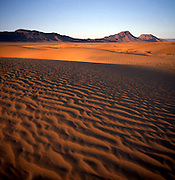 Sand dunes at dawn in the Sahara desert near Zagora, Morocco