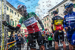 March 15, 2019 - Pomarance, Pisa, Italia - Foto Gian Mattia D'Alberto / LaPresse.15/03/2019 Pomarance (Italia) .Sport Ciclismo.Tirreno-Adriatico 2019 - edizione 54 - da Pomarance a Foligno  (226 km) .Nella foto: Elia Viviani ITA..Photo Gian Mattia D'Alberto / LaPresse .March 15, 2018 Pomarance (Italy).Sport Cycling.Tirreno-Adriatico 2019 - edition 54 - Pomarance to Foligno (140 miglia) .In the pic:Elia Viviani ITA (Credit Image: © Gian Mattia D'Alberto/Lapresse via ZUMA Press)