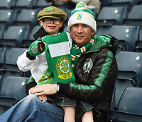 15/03/15 SCOTTISH LEAGUE CUP FINAL<br /> DUNDEE UTD v CELTIC<br /> HAMPDEN - GLASGOW<br /> Jay Beatty and father