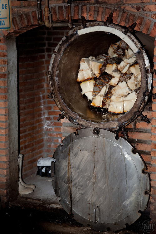"""Making Tequila""- Part of the tequila making process, photographed at a distillery near Puerto Vallarta, Mexico."