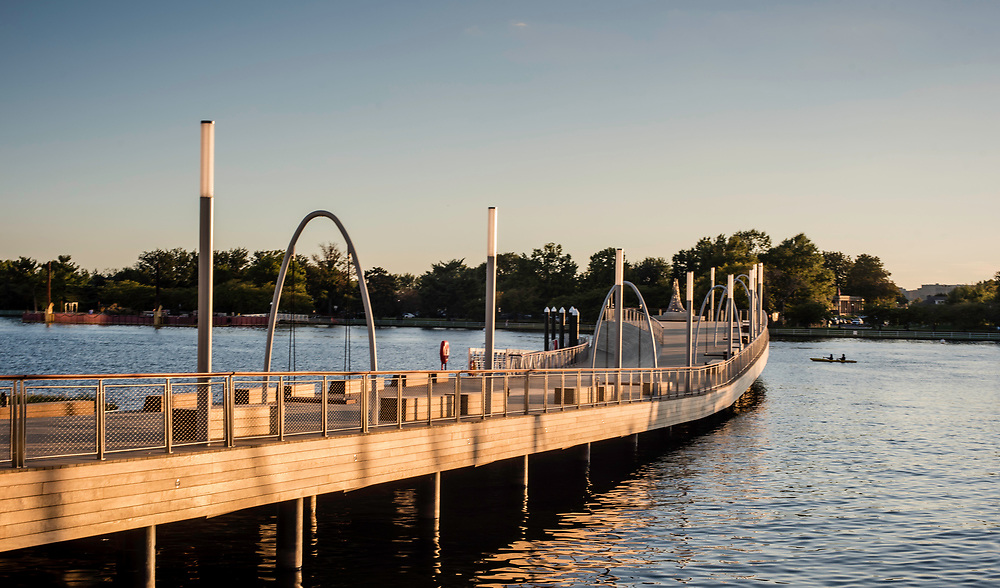 WASHINGTON, DC -- OCTOBER 01: Recreation Pier features a boat ramp for kayaks and canoes.<br /> The newly developed Wharf along the Southwest Waterfront, will open on October 12, and the anchor is Anthem, the newest venue from the 9:30 Club&hellip;. (photo by Andre Chung for The Washington Post)