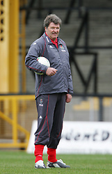 SWANSEA, WALES - TUESDAY MARCH 22nd 2005: Wales' manager John Toshack during training at Swansea City's Vetch Field Stadium. (Pic by David Rawcliffe/Propaganda)