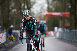 Maria Vittoria Sperotto (ITA) makes her way to sign on at Drentse 8 van Westerveld 2019, a 145 km road race starting and finishing in Dwingeloo, Netherlands on March 15, 2019. Photo by Sean Robinson/velofocus.com