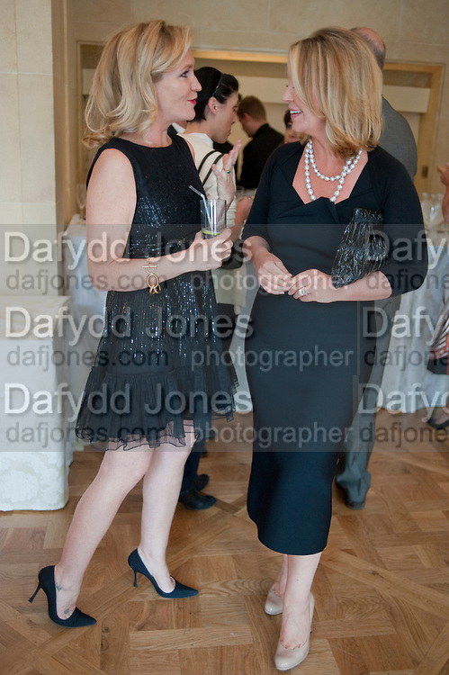 IMOGEN EDWARDS-JONES; KIRSTY YOUNG;,  Imogen Edwards-Jones - book launch party for ' Hospital Confidential' Mandarin Oriental Hyde Park, 66 Knightsbridge, London, 11 May 2011. <br />  <br /> -DO NOT ARCHIVE-&copy; Copyright Photograph by Dafydd Jones. 248 Clapham Rd. London SW9 0PZ. Tel 0207 820 0771. www.dafjones.com.