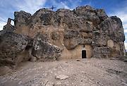 Entrance to the cave church of San Giovanni Monterrone, Sasso Caveoso, Matera, Italy. &copy; Carlo Cerchioli<br /> <br /> Ingresso della chiesa rupestre di San Giovanni in Monterrone, Sasso Caveoso, Matera, Italia.