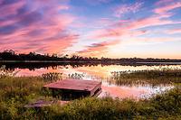 Sunset over McMeekin Lake near Hawthorne, FL