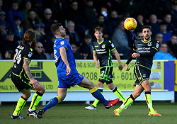 Liam Sercombe of Bristol Rovers passes the ball - Mandatory by-line: Robbie Stephenson/JMP - 17/02/2018 - FOOTBALL - Cherry Red Records Stadium - Kingston upon Thames, England - AFC Wimbledon v Bristol Rovers - Sky Bet League One