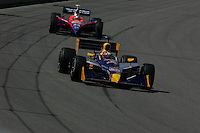 Patrick Carpentier and Kosuke Matsuura at the Pikes Peak International Raceway, Honda Indy 225, August 21, 2005