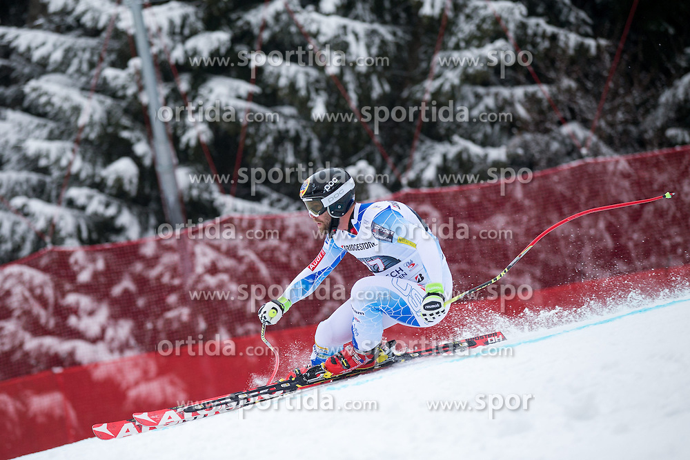 28.02.2015, Kandahar, Garmisch Partenkirchen, GER, FIS Weltcup Ski Alpin, Abfahrt, Herren, im Bild Travis Ganong (USA) // Travis Ganong of the USA in action during the men's Downhill of the FIS Ski Alpine World Cup at the Kandahar course, Garmisch Partenkirchen, Germany on 2015/02/28. EXPA Pictures © 2015, PhotoCredit: EXPA/ Johann Groder