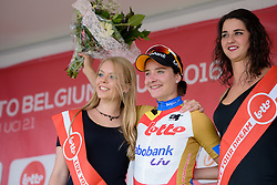 New race leader, Marianne Vos (Rabo Liv) at the 108 km Stage 2 of the Lotto Belgium Tour 2016 on 8th September 2016 in Lierde, Belgium. (Photo by Sean Robinson/Velofocus).