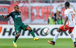 15.09.2016, Red Bull Arena, Salzburg, AUT, UEFA EL, FC Red Bull Salzburg vs FC Krasnodar, Gruppe I, 1. Runde, im Bild Joaozinho (FC Krasnodar), Diadie Samassekou (FC Red Bull Salzburg) // during the UEFA Europa League, group I, 1st round match between FC Red Bull Salzburg and FC Krasnodar at the Red Bull Arena in Salzburg, Austria on 2016/09/15. EXPA Pictures © 2016, PhotoCredit: EXPA/ JFK