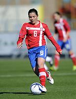 Fotball / Football<br /> 04.04.2013<br /> UEFA WU19, Second Qualifying Round<br /> England v Serbia 4:5<br /> Foto: Morten Olsen, Digitalsport<br /> <br /> Ana Popov - Serbia (6)