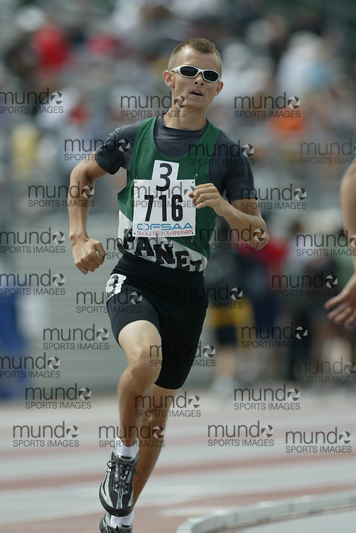 (London, Ontario}---05 June 2010) Ty Lebannister of General Panet - Petawawa competing in the 800m heats at the 2010 OFSAA Ontario High School Track and Field Championships in London, Ontario, June 05, 2010 . Photograph copyright Sean Burges / Mundo Sport Images, 2010.