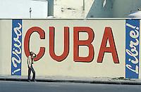 Cuba - La Habana - La Havane - Peinture murale - Vive Cuba  // Cuba. Havana. Wall painting.