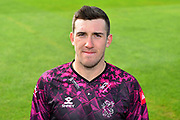 Head shot of Craig Overton in the Vitality Blast kit during the 2019 media day at Somerset County Cricket Club at the Cooper Associates County Ground, Taunton, United Kingdom on 2 April 2019.