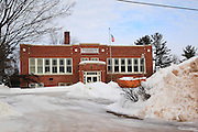 One of the things that I really like about the U.P. is that things tend to be re-used or recycled. That's why so many of its architectural treasures are still in existence, even if used for something other than their original purpose. This was the Washington Grade School on the east side of Munising, until 1979. It's an elegant school building, with stylistic touches in the masonry, and great symmetry. In 1993, it was renovated and reopened as the Alger County Heritage Center. That's quite an enormous woven basket in their front yard.
