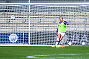 Manchester City Women defender Steph Houghton (captain) (6) warming up during the FA Women's Super League match between Manchester City Women and BIrmingham City Women at the Sport City Academy Stadium, Manchester, United Kingdom on 12 October 2019.