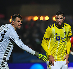 Jasmin Handanovič of Maribor and Amir Dervišević of Maribor during football match between NK Aluminij and NK Maribor in 18th Round of Prva liga Telekom Slovenije 2019/20, on November 24, 2019 in Sportni park Aluminij, Kidricevo Slovenia. Photo by Milos Vujinovic / Sportida