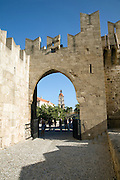 Entrance gate Palace of the Grand Masters, Rhodes, town, Rhodes, Greece