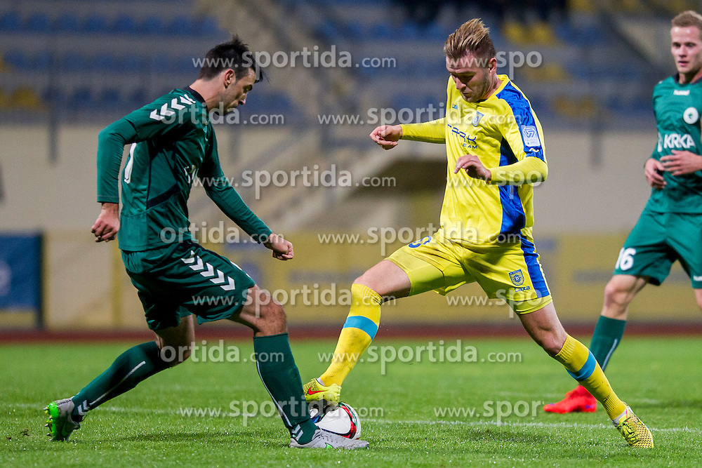 Slobodan Vuk #10 of NK Domzale during football match between NK Domzale and NK Krka in 14th Round of Prva liga Telekom Slovenije 2015/16, on October 17, 2015 in Sports park Domzale, Slovenia. Photo by Urban Urbanc / Sportida