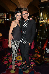 LIBERTY ROSS and HENRY HOLLAND at a dinner to celebrate the launch of Genetic - Liberty Ross hosted by Liberty Ross and Ali Fatourechi at Annabel's, 44 Berkeley Square, London on 3rd September 2014.