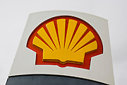 Shell petrol station sign, Gloucestershire, United Kingdom