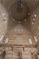 Egypt . Cairo : dome ceiling - mausoleum Sabil Kuttab TARABAY ASH Sharifi - after renovation - INSIDE . sharia BAB EL WAZIR    street, islamic Cairo     NM255 +
