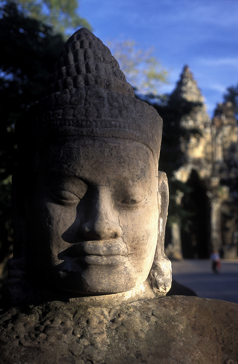 Rower statue on the southern causeway to Angkor Thom, near Angkor Wat, Cambodia.