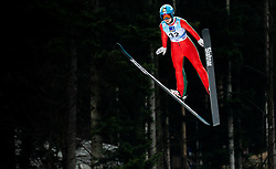 Lidiia Iakovleva of Russia soaring through the air during Trial Round at Day 1 of World Cup Ski Jumping Ladies Ljubno 2019, on February 8, 2019 in Ljubno ob Savinji, Slovenia. Photo by Matic Ritonja / Sportida