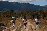 Santana do Riacho_MG, Brasil...Parque Nacional da Serra do Cipo. Na foto turistas...The National Park Serra do Cipo. In this photo, the tourists...Foto: LEO DRUMOND / NITRO