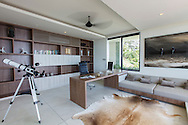 Study at Lime Villa 4, a luxury private, ocean view villa, Koh Samui, Surat Thani, Thailand