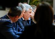 Antonio TAJANI, President  of the European Parliament meets with Theresa May, Prime Minister of United Kingdom to discuss on the latest developments in the negotiations on the British departure from the European Union.<br /> Photo : Da&iuml;na Le Lardic<br /> .<br /> .<br /> ..<br /> .<br /> .<br /> #europe #theresamay @dainalelardic @isopixbelgium @europeanparliament @ep_president @AntonioTajani #picoftheday #photooftheday #europe #parlementeuropeen #politics #europeanunion   #brussels #unitedkingdom #brexit #eucouncil @isopixbelgium #politics #uk