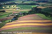 Southcentral Pennsylvania, Aerial Photographs farmlands, mixed cultivation and contour farming, Cumberland County, PA
