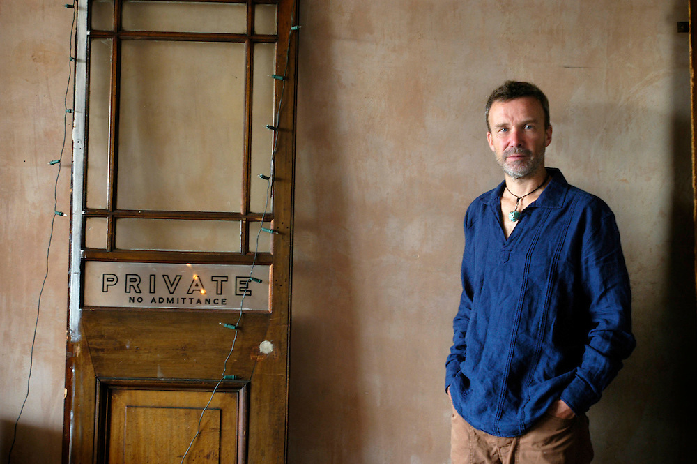 UK. London. Dr Simon Hincks who is HIV positive and re-trained as a GP in Brighton, at his home in Old Street, London...