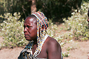 Africa, Tanzania, Lake Eyasi, portrait of a mature Hadza male. A small tribe of hunter gatherers AKA Hadzabe Tribe
