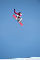 February 19, 2018 - Pyeongchang, South Korea - ISABEL DERUNGS of Switzerland soars during Women's Snowboard Big Air  qualifications Monday, February 19, 2018 at the Alpensia Ski Jumping Centre at the Pyeongchang Winter Olympic Games. Derungs failed to make the finals. The sport is making it's first appearance as an Olympic sport. Photo by Mark Reis, ZUMA Press/The Gazette (Credit Image: © Mark Reis via ZUMA Wire)