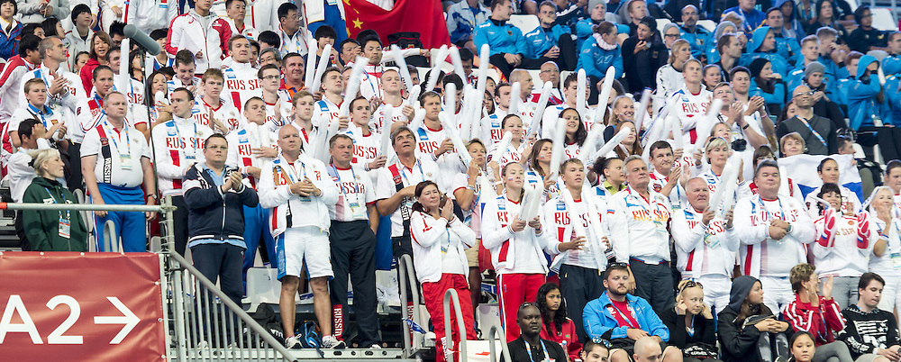 Russian swimming team<br /> Swimming Nuoto Kazan Arena<br /> Day12 04/08/2015 Evening Finals<br /> XVI FINA World Championships Aquatics Swimming<br /> Kazan Tatarstan RUS July 24 - Aug. 9 2015 <br /> Photo G.Scala/Deepbluemedia/Insidefoto