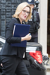 Downing Street, London, October 25th 2016. Home Secretary Amber Rudd arrives at 10 Downing Street for the weekly cabinet following a Heathrow Third Runway Sub-Committee meeting at the same venue.