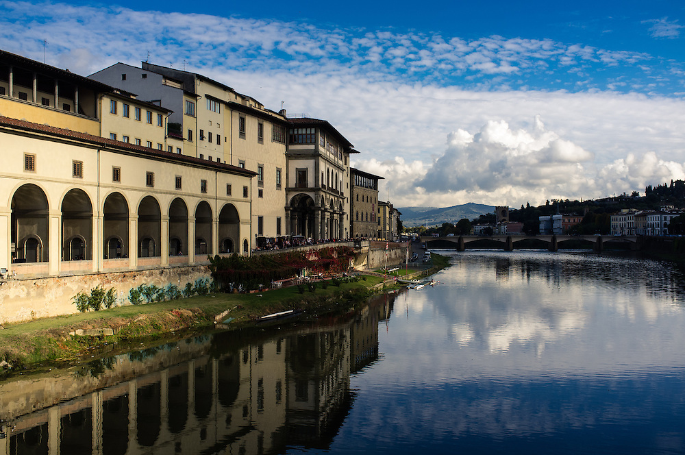 Buildings along the River Arno in Florence, Italy