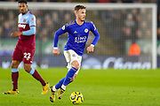 Leicester City midfielder James Maddison (10) during the Premier League match between Leicester City and West Ham United at the King Power Stadium, Leicester, England on 22 January 2020.