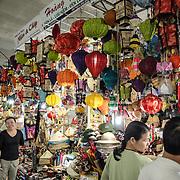 Light shades for sale at Cho Dong Ba, the main city market in Hue, Vietnam.