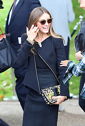 Olivia Palermo leaving the LFW: Burberry Prorsum - s/s 2014 catwalk show at Kensington Gardens, Kensington Gore in London, UK. 16/09/2013<br />
