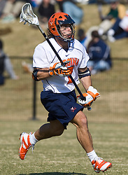 Virginia Cavaliers D Chad Gaudet (7) in action against Drexel.  The #2 ranked Virginia Cavaliers defeated the Drexel Dragons 13-7 at the University of Virginia's Klockner Stadium in Charlottesville, VA on February 14, 2009.