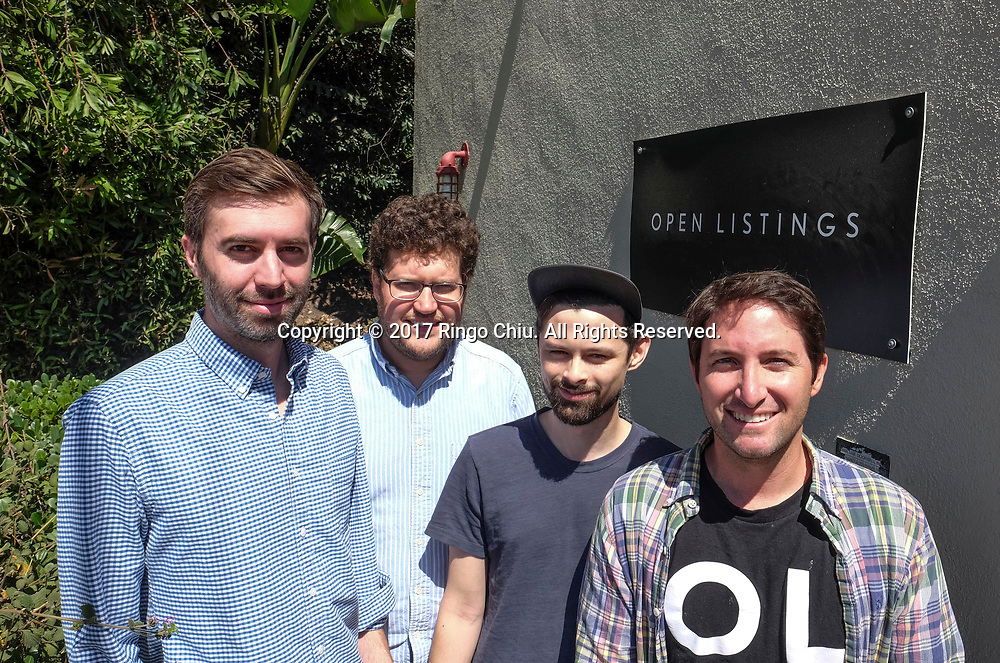 Left to right, co-founders Stuart Law, Peter Sugihara, Alex Farrill, and Judd Schoenholtz of Open Listings, a real estate tech company in Los Angeles.(Photo by Ringo Chiu)<br /> <br /> Usage Notes: This content is intended for editorial use only. For other uses, additional clearances may be required.