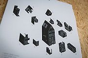 Amsterdam, May 2014 -3D Print Canal House, The explose rapresentation of The modular design of the house.