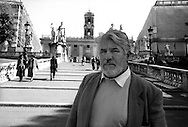 March 1997..Swiss actor Mario Adorf in Rome..Campidoglio